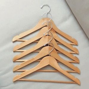 5 wooden top hangers from Ivivva (Lululemon kids)